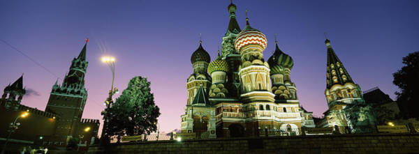 Onion Domes Photograph - Low Angle View Of A Cathedral, St by Panoramic Images