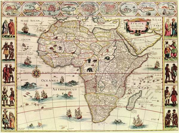Nova Photograph - Map Of Africa by Library Of Congress, Geography And Map Division
