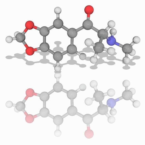 Wall Art - Photograph - Methylone Drug Molecule by Laguna Design/science Photo Library