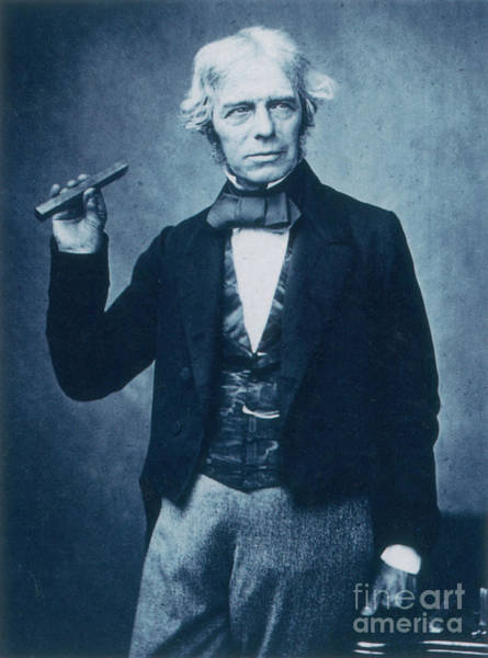 Diamagnetism Wall Art - Photograph - Michael Faraday, English Chemist by Science Source
