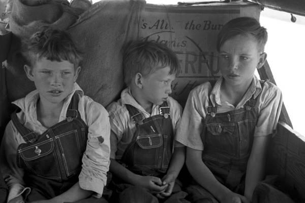 Muskogee Photograph - Migrant Children, 1939 by Granger