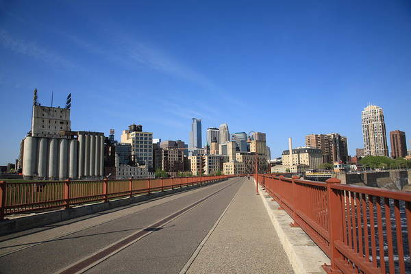 Photograph - Minneapolis Skyline by Frank Romeo