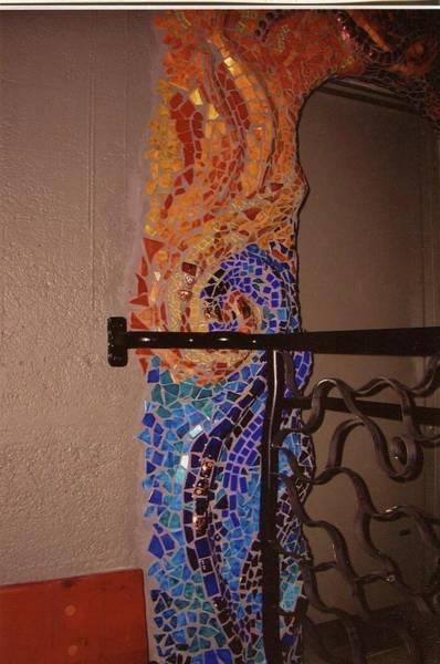 Ceramic Art - Mosaic Doorway by Charles Lucas