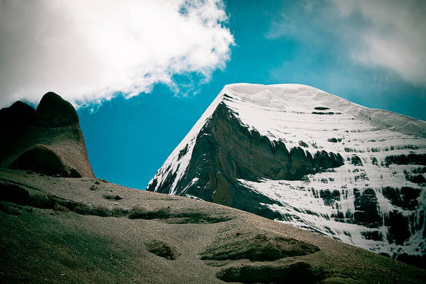 Photograph - Mount Kailash Western Slope Home Of The Lord Shiva by Raimond Klavins