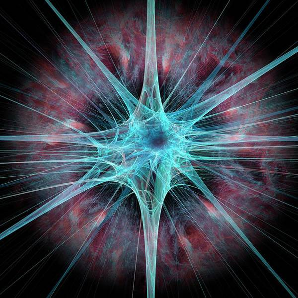 Axon Wall Art - Photograph - Nerve Cell by Laguna Design/science Photo Library