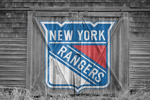 Hockey Sticks Wall Art - Photograph - New York Rangers by Joe Hamilton