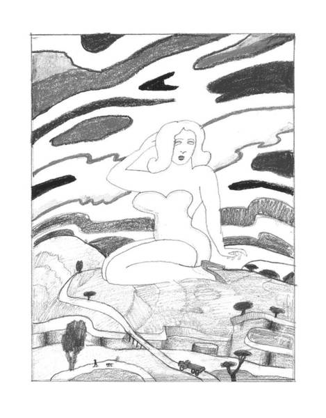 March 14th Drawing - New Yorker March 14th, 1994 by Saul Steinberg