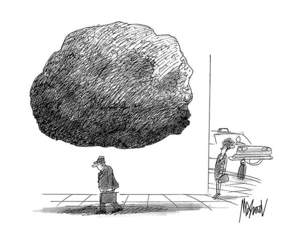Surrealist Drawing - New Yorker October 12th, 1992 by Kenneth Mahood