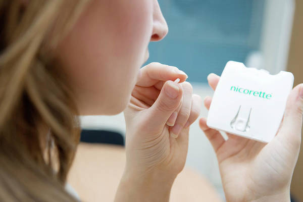 Branding Photograph - Nicorette Microtab Pills by Gustoimages/science Photo Library