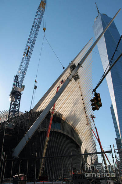 Photograph - Oculus Wtc Construction by Steven Spak