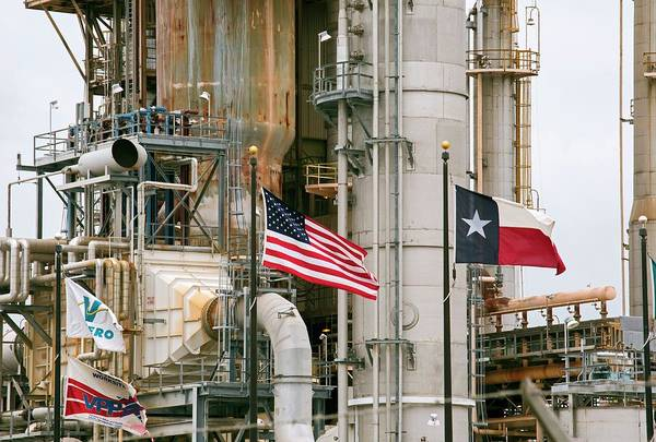 Wall Art - Photograph - Oil Refinery by Jim West