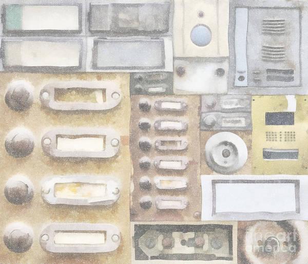 Dingy Digital Art - Old Doorbells by Michal Boubin