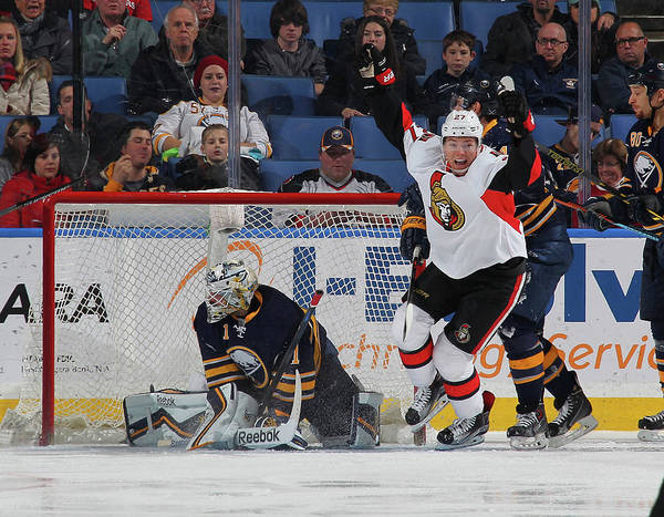 Scoring Photograph - Ottawa Senators V Buffalo Sabres by Bill Wippert