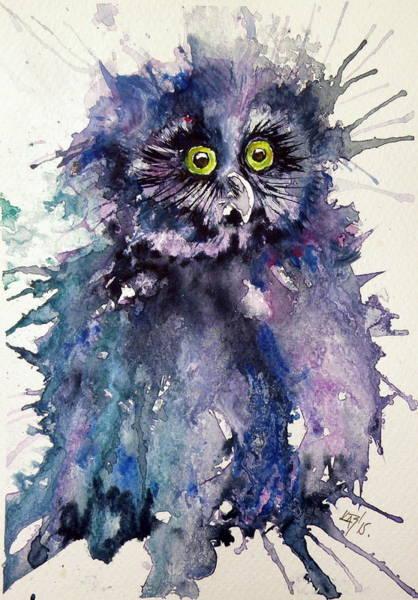 Wild Life Painting - Owl by Kovacs Anna Brigitta