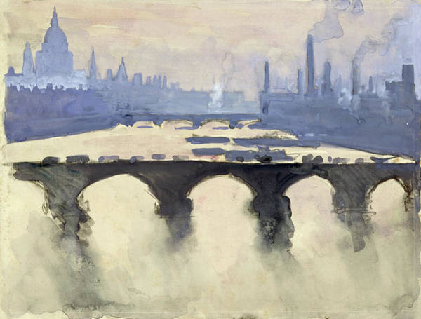 Mist Drawing - Pennell London, C1905 by Granger
