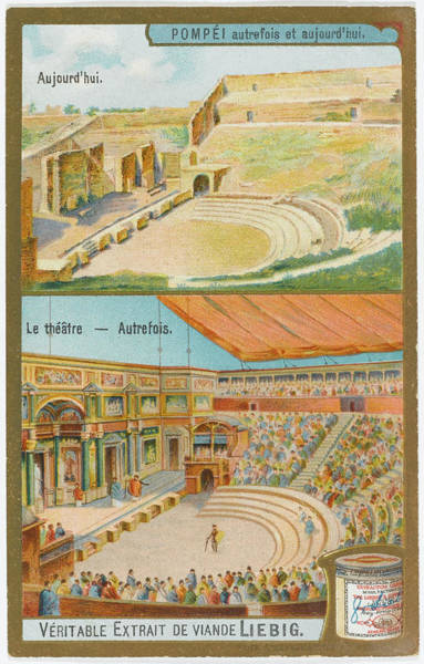 Reconstruction Drawing - Pompeii 'yesterday And Today' by Mary Evans Picture Library