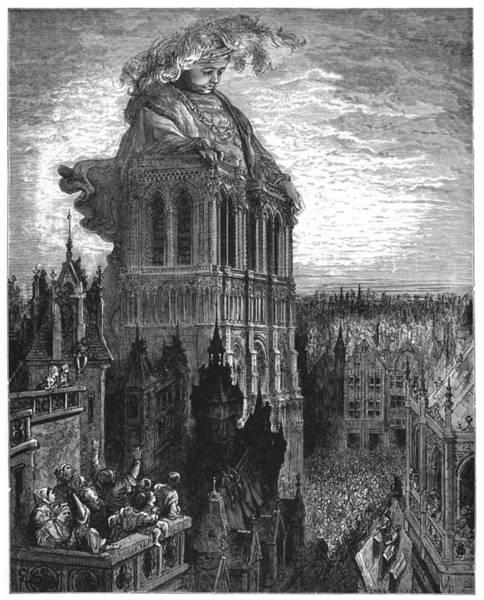 Notre Dame Drawing - Gargantua by Gustave Dore