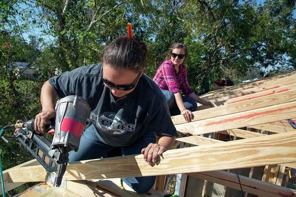Katrina Wall Art - Photograph - Re-building After Hurricane Katrina by Jim West