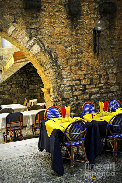 Wall Art - Photograph - Restaurant Patio In France by Elena Elisseeva