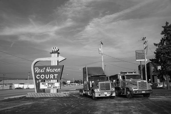 Photograph - Route 66 - Rest Haven Motel by Frank Romeo