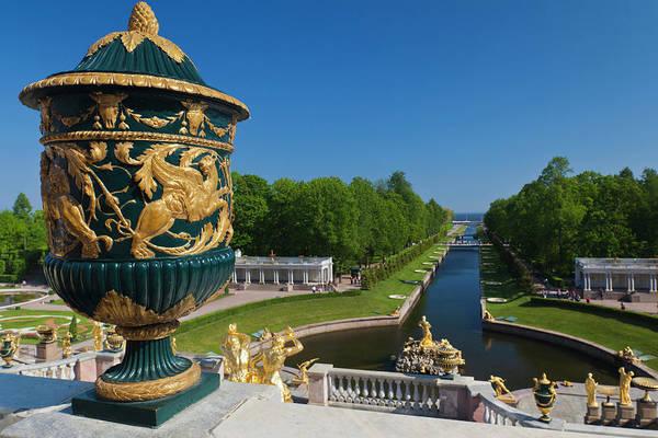 Eastern Europe Photograph - Russia, Saint Petersburg, Peterhof by Walter Bibikow