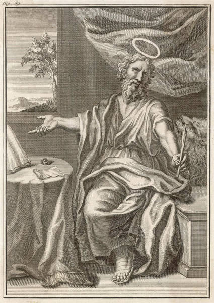 Wall Art - Drawing - Saint Mark The Evangelist  Saint Mark by Mary Evans Picture Library