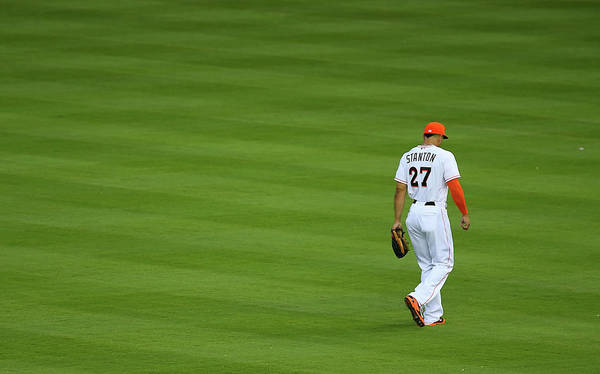 Giancarlo Stanton Photograph - San Diego Padres V Miami Marlins by Mike Ehrmann