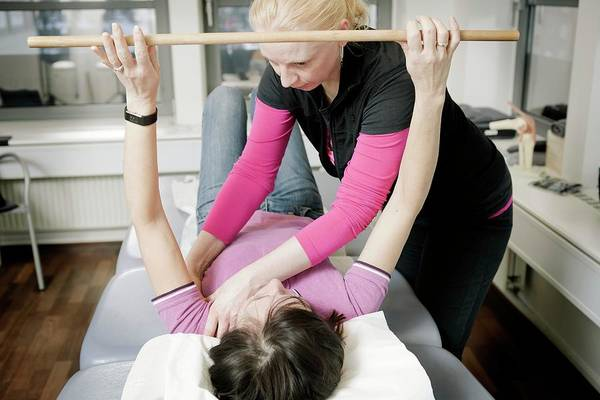 Therapy Photograph - Shoulder Physiotherapy by Thomas Fredberg