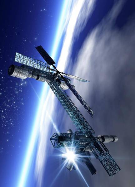 Space Exploration Digital Art - Space Hotel, Artwork by Victor Habbick Visions