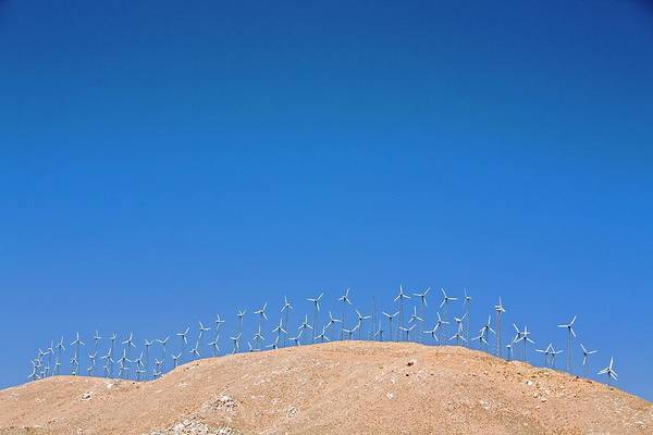 Wind Farm Photograph - Tehachapi Pass Wind Farm by Jim West