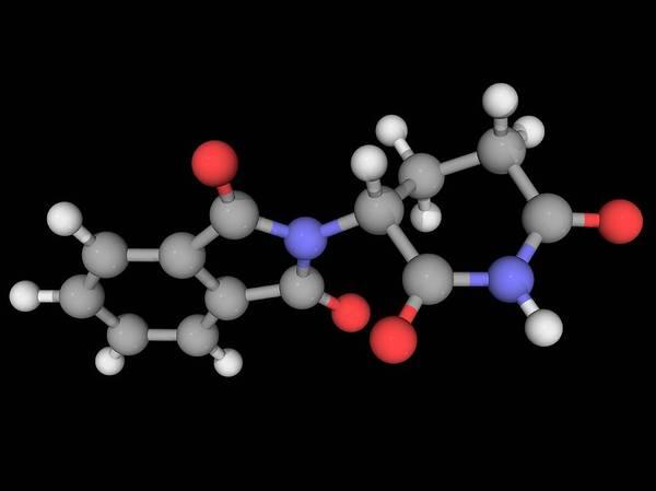 Wall Art - Photograph - Thalidomide Drug Molecule by Laguna Design/science Photo Library
