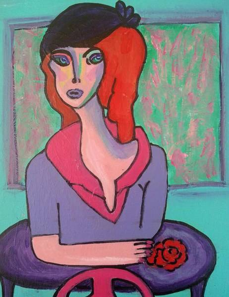 Painting - The Last Rose by Nikki Dalton