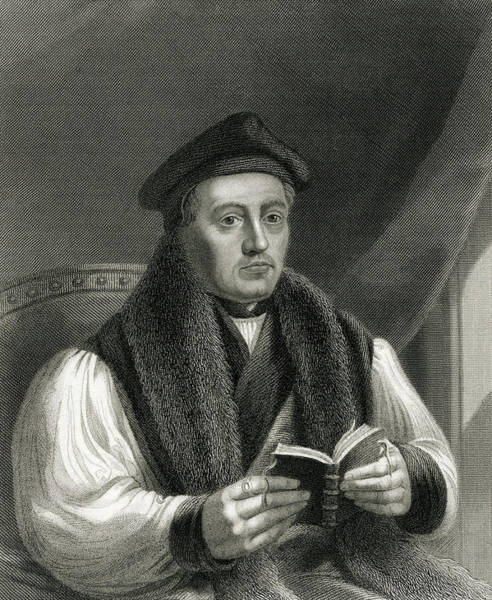 Wall Art - Drawing - Thomas Cranmer  Archbishop by Mary Evans Picture Library