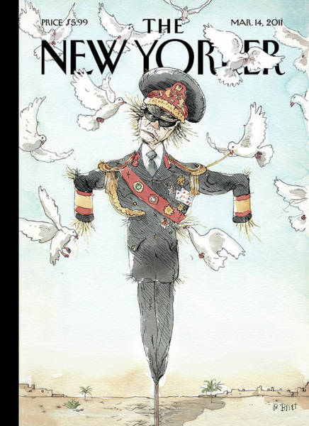 Bird Painting - New Yorker March 14th, 2011 by Barry Blitt