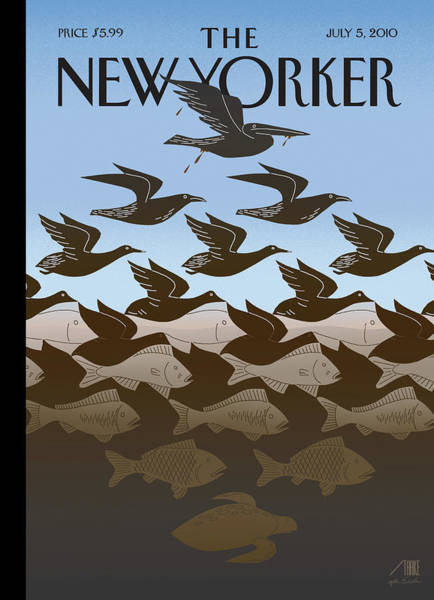 Painting - New Yorker July 5th, 2010 by Bob Staake