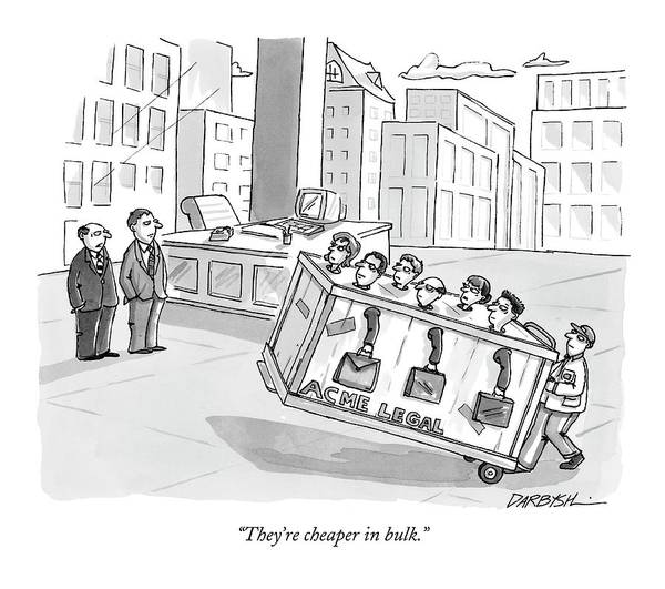 Legal Drawing - They're Cheaper In Bulk by C. Covert Darbyshire