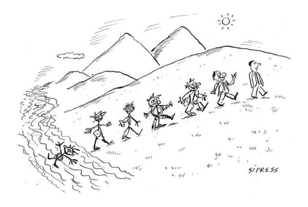 Evolution Wall Art - Drawing - New Yorker September 19th, 2005 by David Sipress