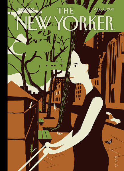 Stroll Painting - New Yorker August 8th, 2011 by Frank Viva