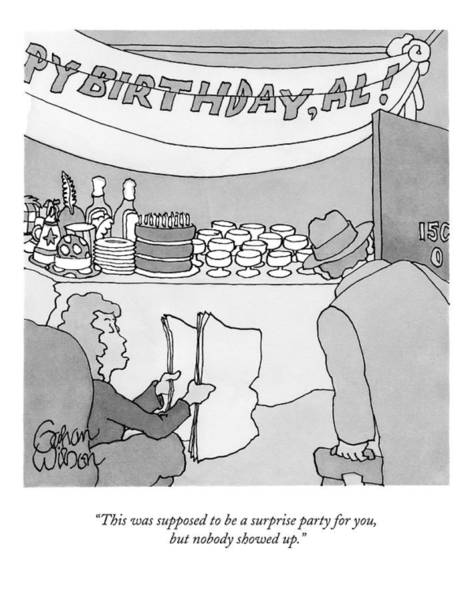 April 6th Drawing - This Was Supposed To Be A Surprise Party by Gahan Wilson