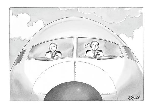 Pilots Drawing - New Yorker January 16th, 2006 by Harry Bliss