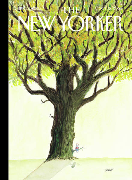 Outdoors Painting - New Yorker October 15th, 2007 by Jean-Jacques Sempe