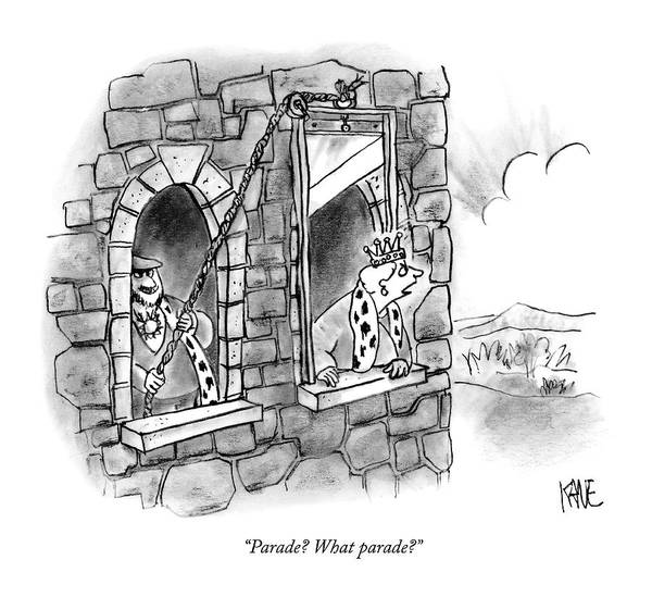 Spouse Drawing - Parade? What Parade? by John Kane