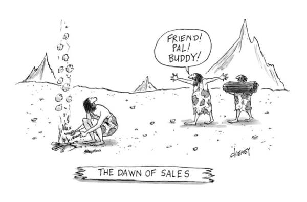Sales Drawing - New Yorker March 23rd, 2009 by Tom Cheney