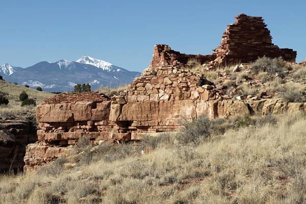 Anasazi Ruin Photograph - Usa, Arizona Native American Ruins by Luc Novovitch