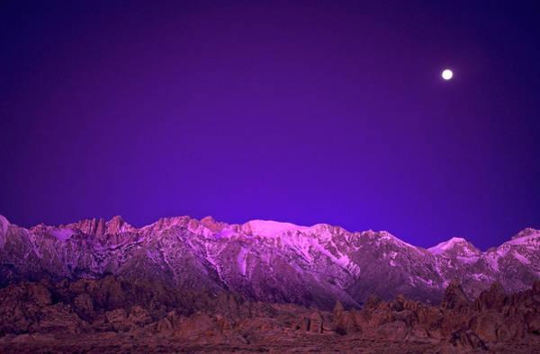 Alpenglow Photograph - Usa, California, Alabama Hills by Jaynes Gallery