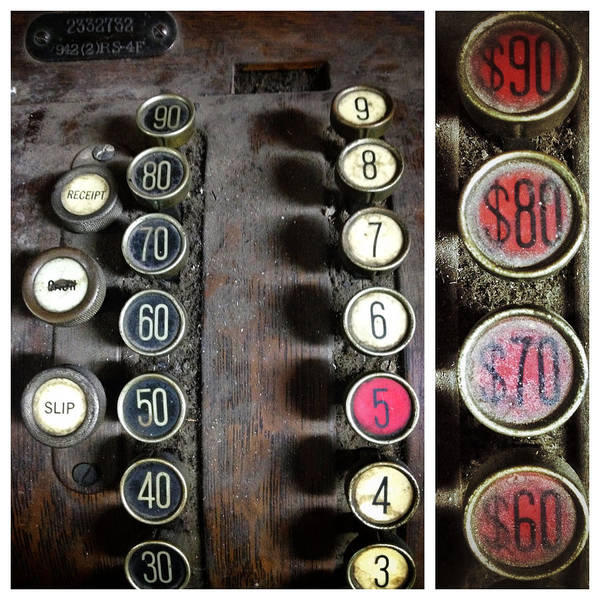 Photograph - Vintage Cash Register by Natasha Marco
