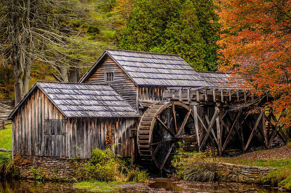 Photograph - Virginia's Mabry Mill On The Blue Ridge Parkway In The Autumn Se by Alex Grichenko