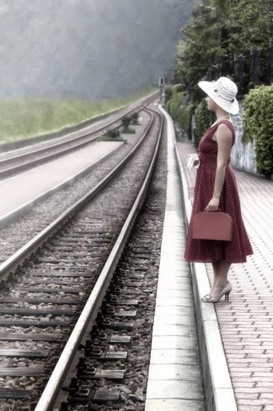 Railway Station Photograph - Waiting by Joana Kruse
