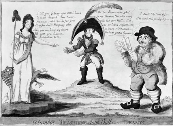 Political Cartoon Painting - War Of 1812 Cartoon by Granger
