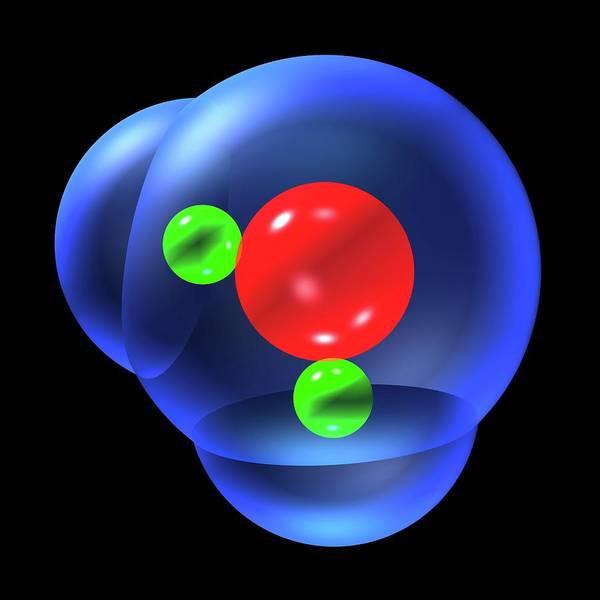 Water Molecule Art Print by Russell Kightley